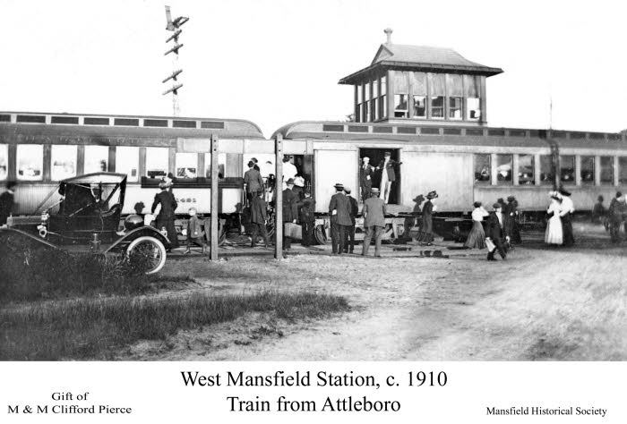 Railroad Station West Mansfield -c 1910